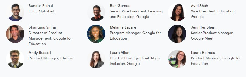Expositores Learning with Google