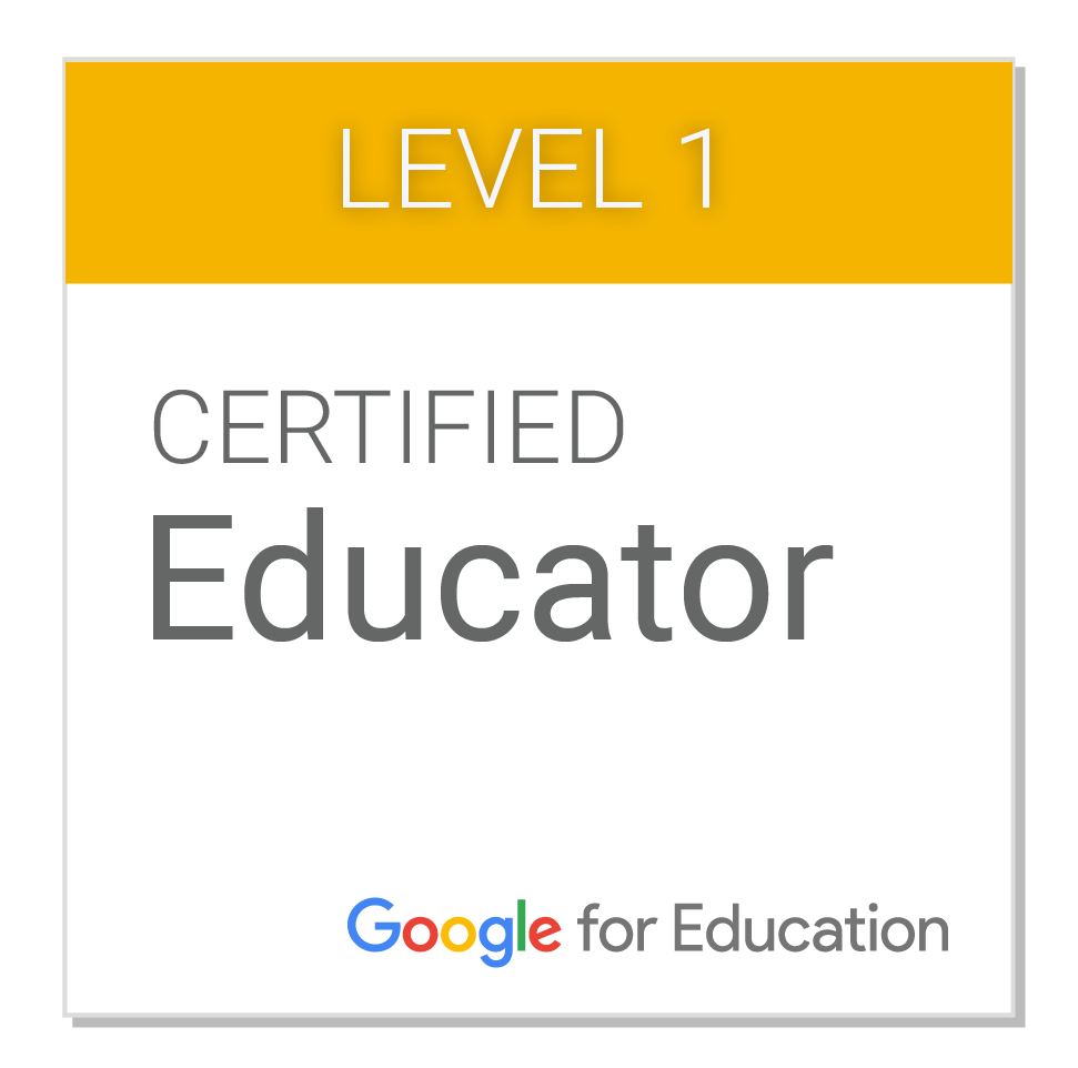GOOGLE CERTIFIED EDUCATOR LEVEL 1 Y 2